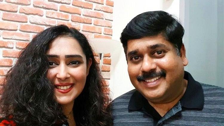 Harikrishnan V Nair with his wife