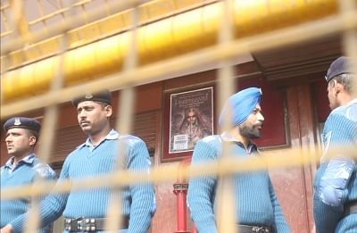 New Delhi: Security beefed up outside cinema halls as Sanjay Leela Bhansali