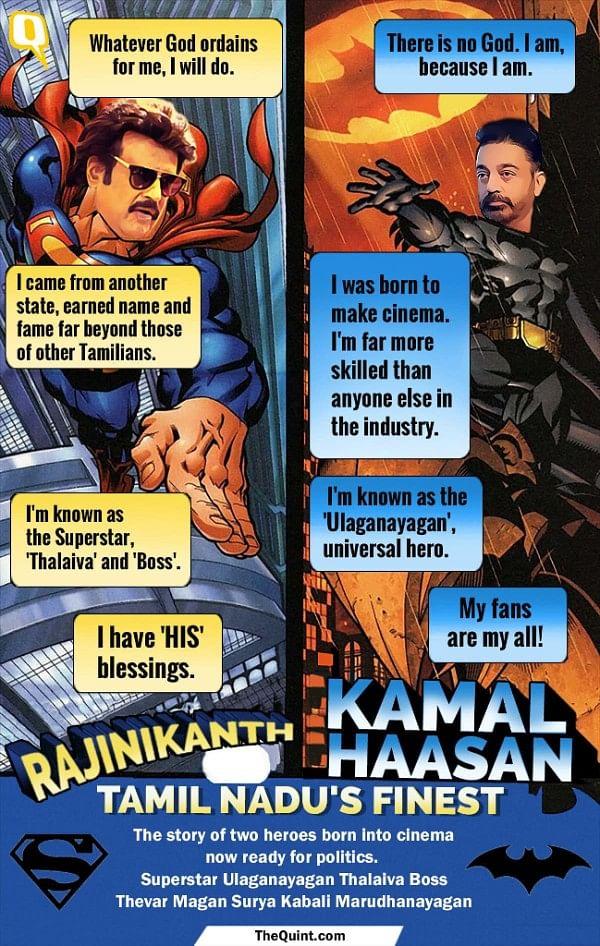Rajinikanth is the man of the masses while Kamal Haasan has a class crowd following.