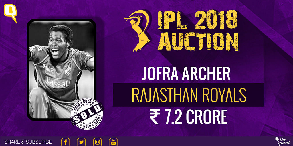 Jofra Archer will play for Rajasthan Royals.