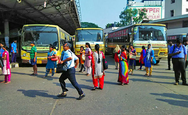 When the strike began at 5pm on 4 January, many commuters were clueless as to why buses weren't plying.
