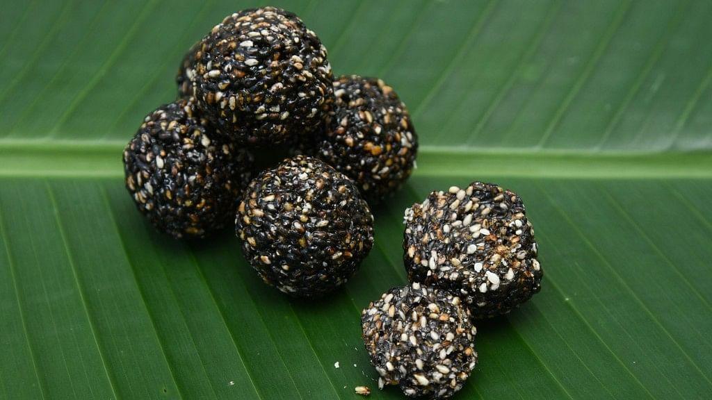 <i>Til laddoos</i> are eaten during Makar Sankranti.