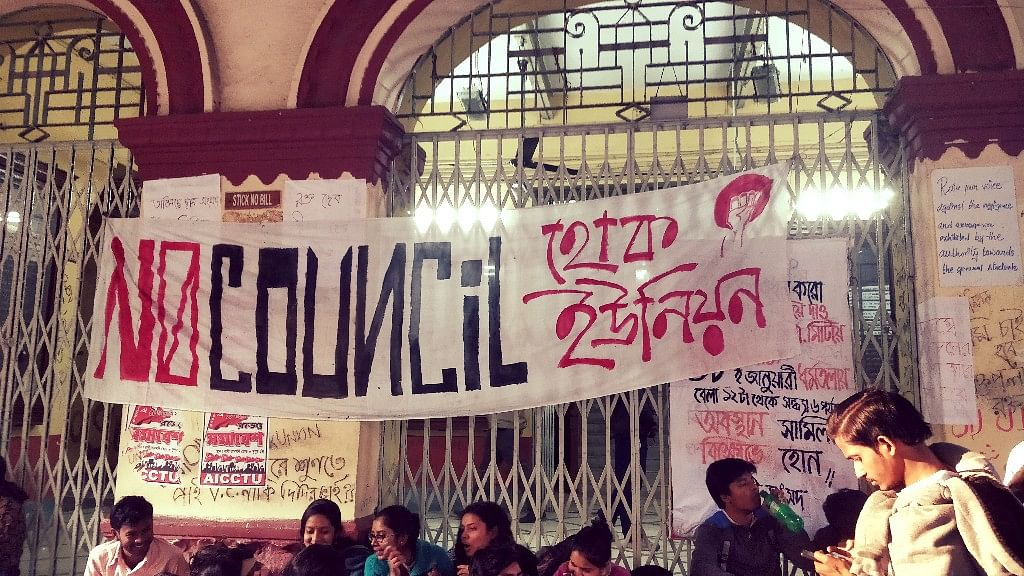 #HokUnion: Jadavpur Students  Demand Elections to Students' Union