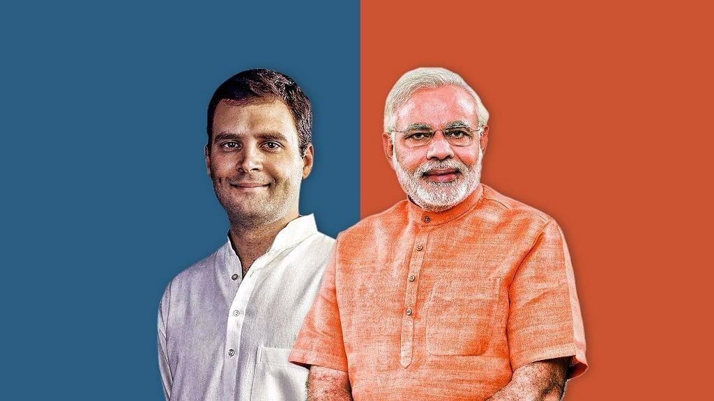 PM Modi and Congress President Rahul Gandhi.
