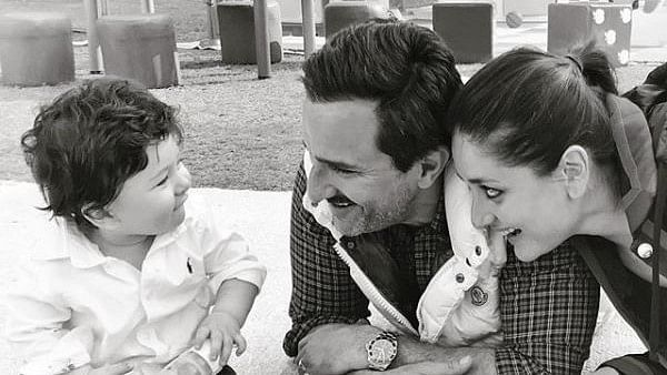 Mommy Kareena and daddy Saif in aww of Taimur.
