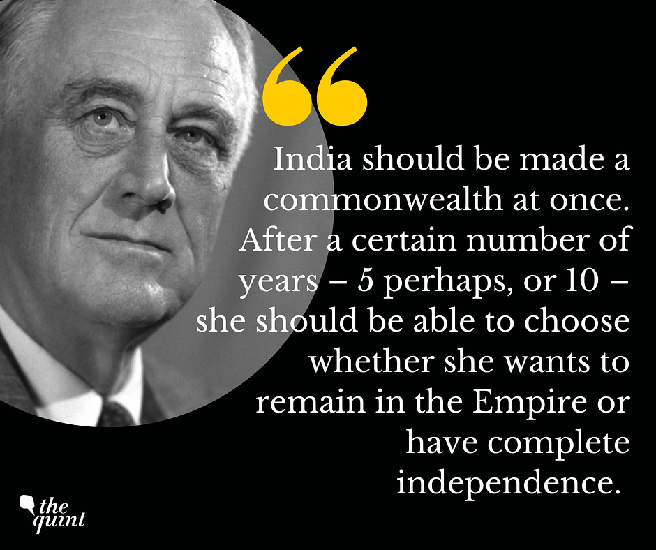 FDR to his son on what should be done with India after the war.