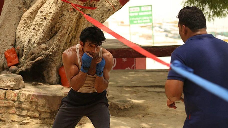 Still from the film 'Mukkabaaz'.