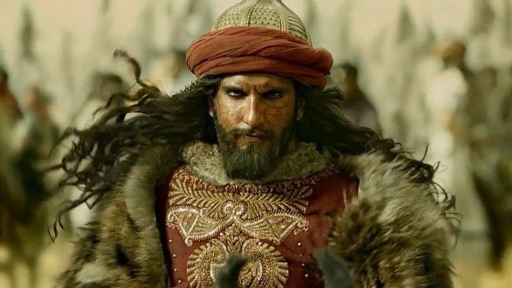 Ranveer Singh as Alauddin Khilji in <i>Padmaavat. </i>
