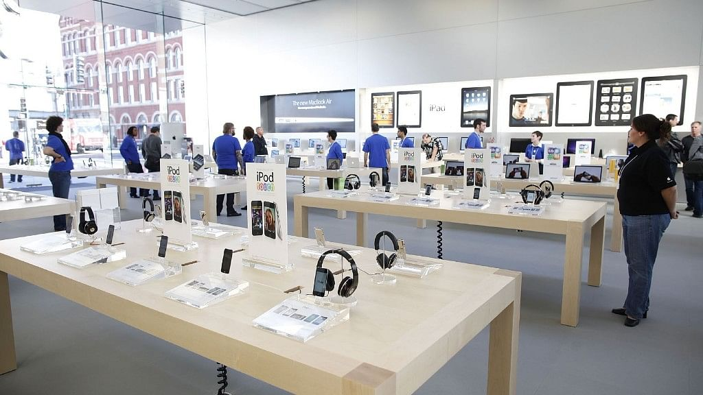 Apple store in New York.