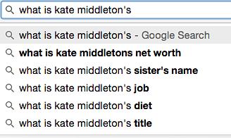 Our range of curiosity over Kate Middleton