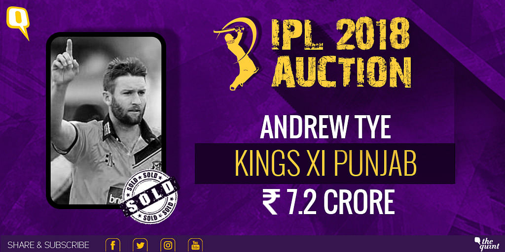 Andrew Tye was bought by Kings XI Punjab.