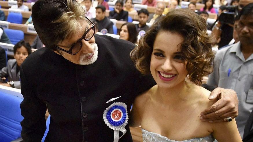 Kangana Ranaut and Amitabh Bachchan may share screen space soon.