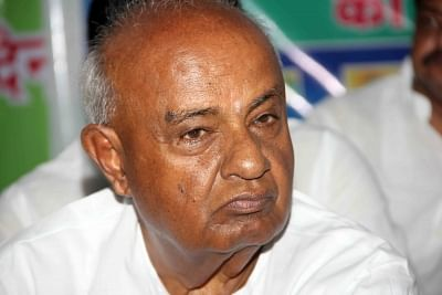 JDS leader and former prime minister H. D. Deve Gowda.