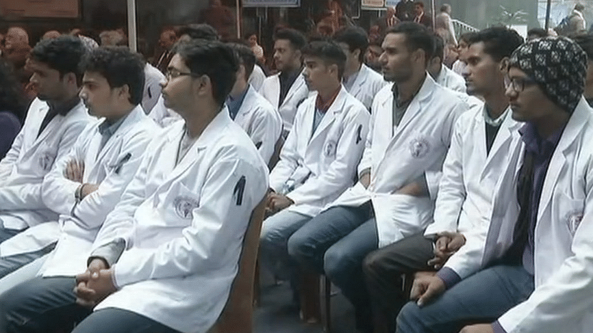 Doctor's in Delhi on strike.