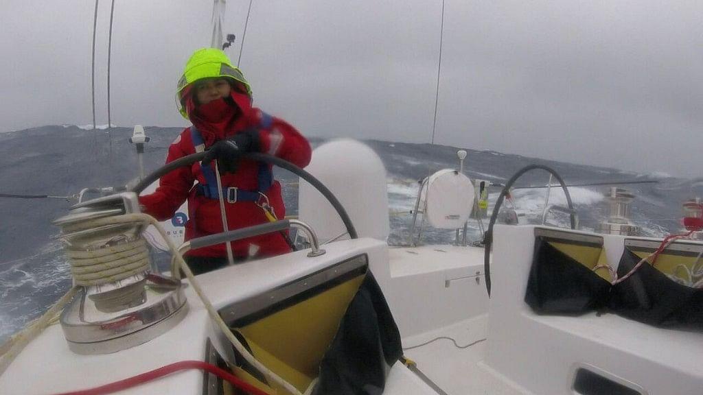 #GoodNews:  All-Women Navy Crew on INSV Tarini Brave Pacific Storm