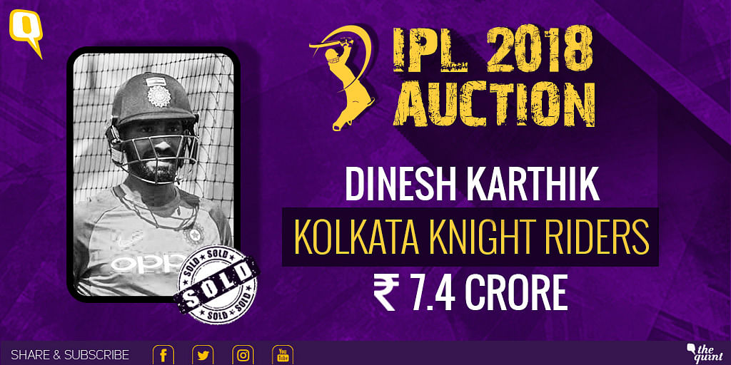 Dinesh Kathik was picked by KKR.