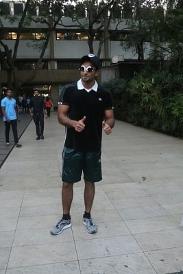 Mumbai: Actor Ranveer Singh seen at Bandra in Mumbai on Jan 21, 2018.(Photo: IANS)