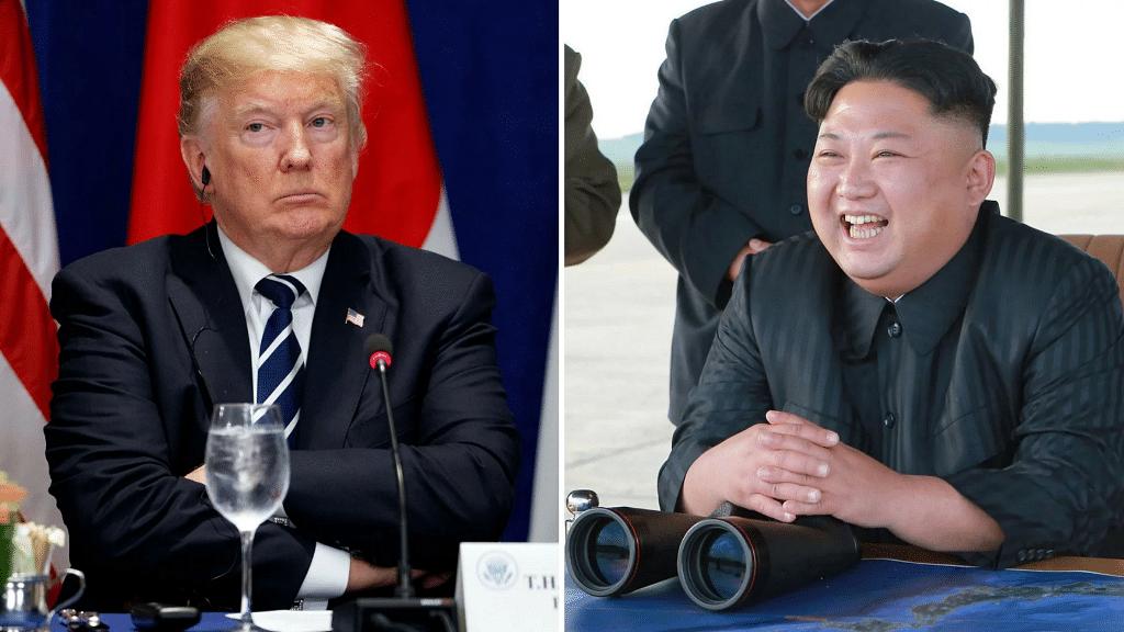 Donald Trump and Kim Jong-Un.