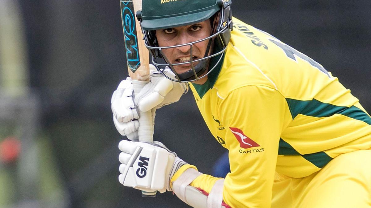 Captain Jason Sangha of Australia bats during the warm-up match against Sri Lanka.