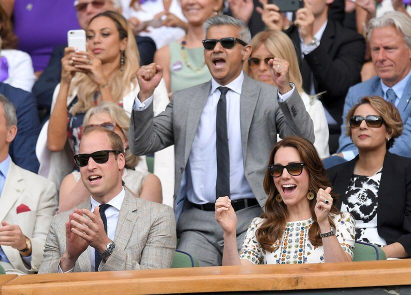 The Duke and Duchess of Cambridge attend a race together.