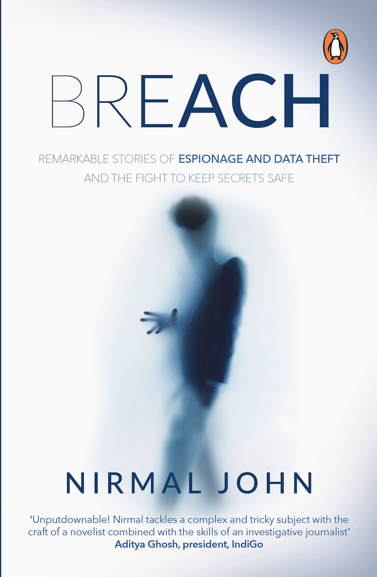 Cover of the book <i>'Breach</i>,' authored by Nirmal John.