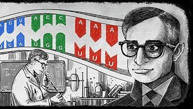 The Google Doodle honours Har Gobind Khorana.