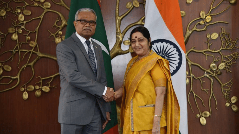 Swaraj and her Maldivian counterpart Mohamed Asim held productive discussions keeping in mind 'India first' policy of Maldives and our policy of 'Neighbourhood first'.