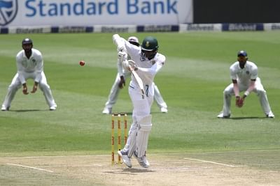 Johannesburg: Kagiso Rabada of South Africa in action during Day 2 of the third Test match between South Africa and India at the Wanderers Stadium in Johannesburg, South Africa on Jan 25, 2018. (Photo: BCCI/IANS) (Credit Mandatory)