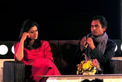 Kolkata: Actors Nawazuddin Siddiqui and Nandita Das at Tata Steel Kolkata Literary Meet in Kolkata on Jan 24, 2018. (Photo: IANS)