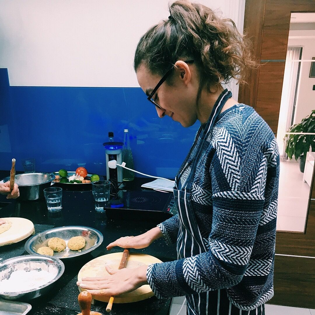 Apart from staple Indian dishes, Anita – a mother of two – also uses her mixed ancestry to her advantage by introducing several 'fusion' dishes to her clients.