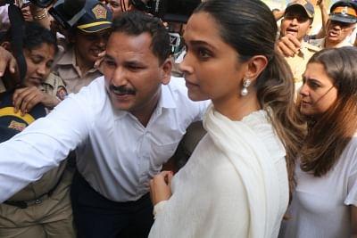 Mumbai: Actress Deepika Padukone during a visit to Siddhivinayak temple in Mumbai on Jan 23, 2018.(Photo: IANS)