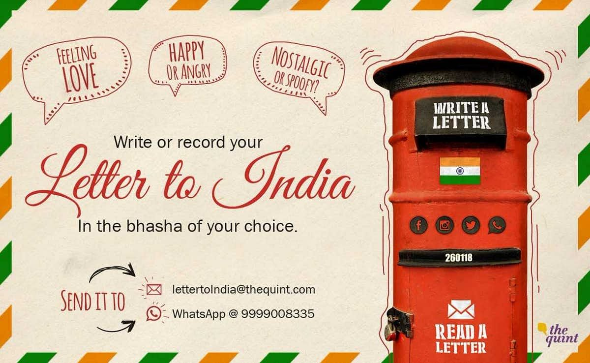 Letter to India: Dear India, You Are My Pride