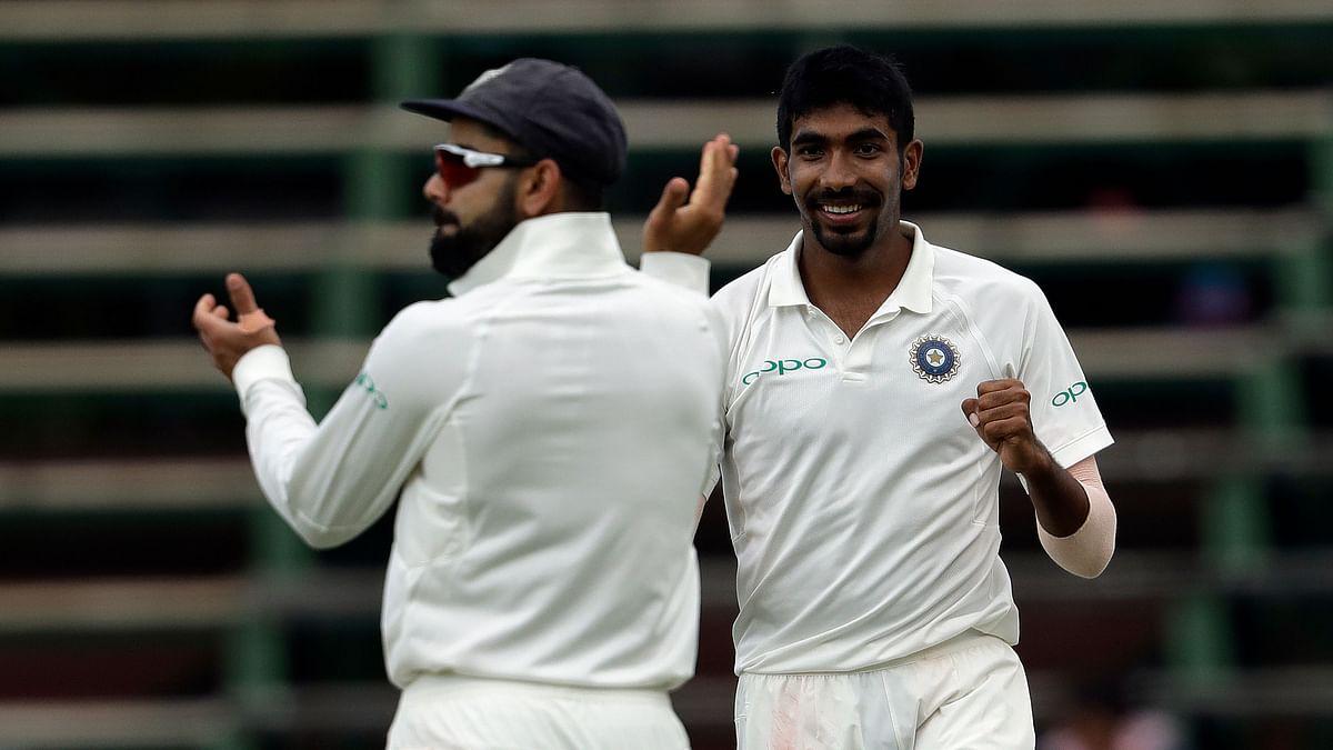 Virat Kohli and Jasprit Bumrah during India's Johannesburg Test against South Africa.