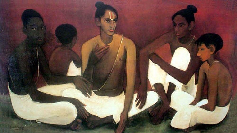 Amrita Sher-Gil's 'Brahmacharis'.
