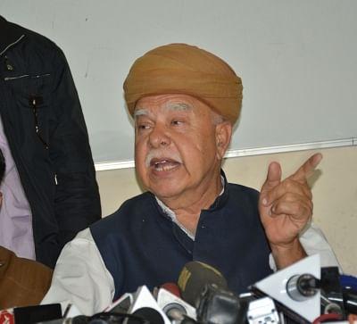 Shri Rajput Karni Sena chief Lokendra Singh Kalvi. (Photo: Ravishankar Vyas/IANS)