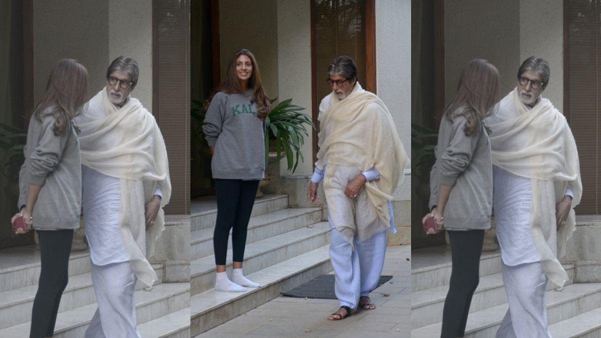 Amitabh Bachchan, with daughter Shweta.