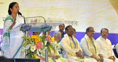 "Kolkata: West Bengal Chief Minister Mamata Banerjee during a program on ""Convention on Cooperatives"" in Kolkata, on Jan 25, 2018. (Photo: IANS)"