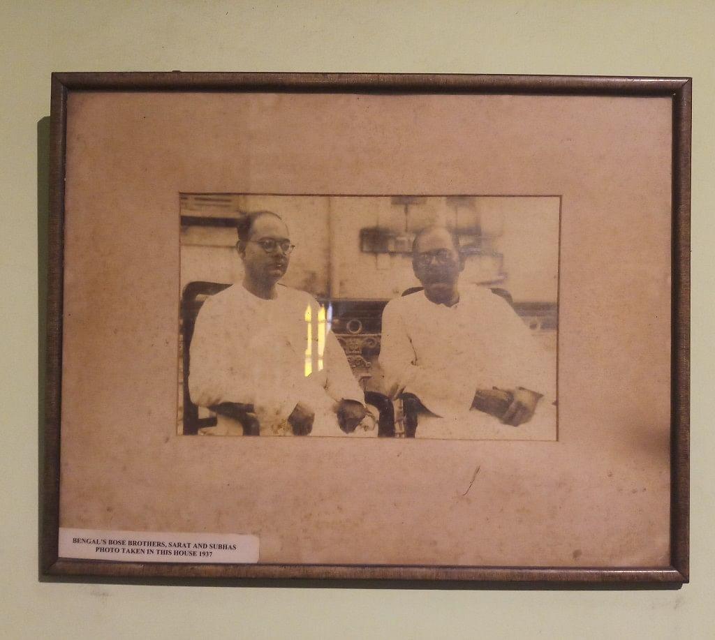 Netaji with his brother Sarat Chandra Bose.