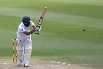 Johannesburg: Hashim Amla of South Africa in action during Day 2 of the third Test match between South Africa and India at the Wanderers Stadium in Johannesburg, South Africa on Jan 25, 2018. (Photo: BCCI/IANS) (Credit Mandatory)