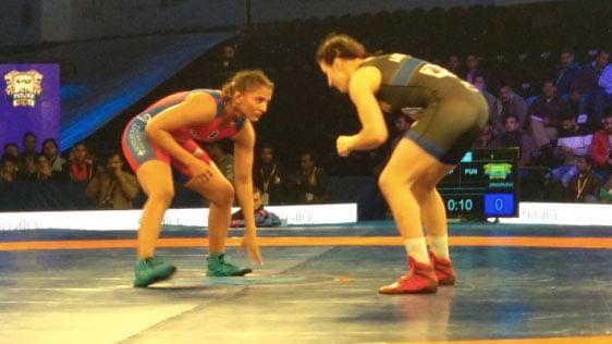 UP Dangal's Geeta Phogat lost to Latvia's Grigorjeva Anastasija in the 62 kg category.