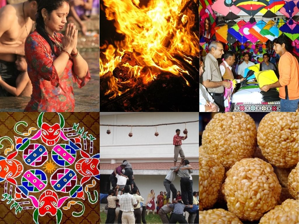 Festive celebrations of Makar Sankranti.