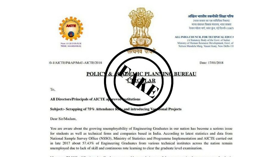 AICTE said that the circular is misleading and mischievous.