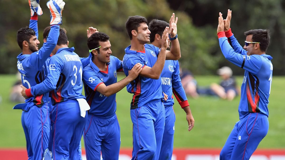 Afghanistan recorded a thumping 202-run victory over New Zealand in the Under-19 World Cup quarters.