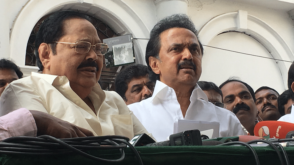 DMK and Congress staged a walk out as the Governor made his first address at the House.