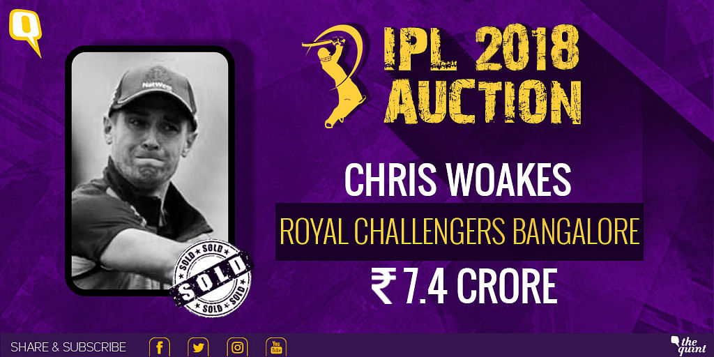 Chris Woakes sold to RCB.