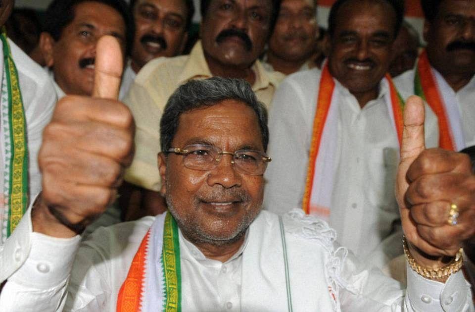 Siddaramaiah after 2013 elections.