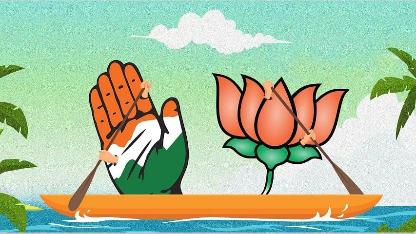 Two recent surveys have predicted that the BJP-led NDA may fall short of a majority in the Lok Sabha elections.