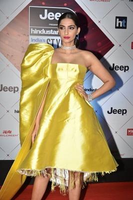 "Mumbai: Actress Sonam Kapoor at the red carpet of ""HT India"