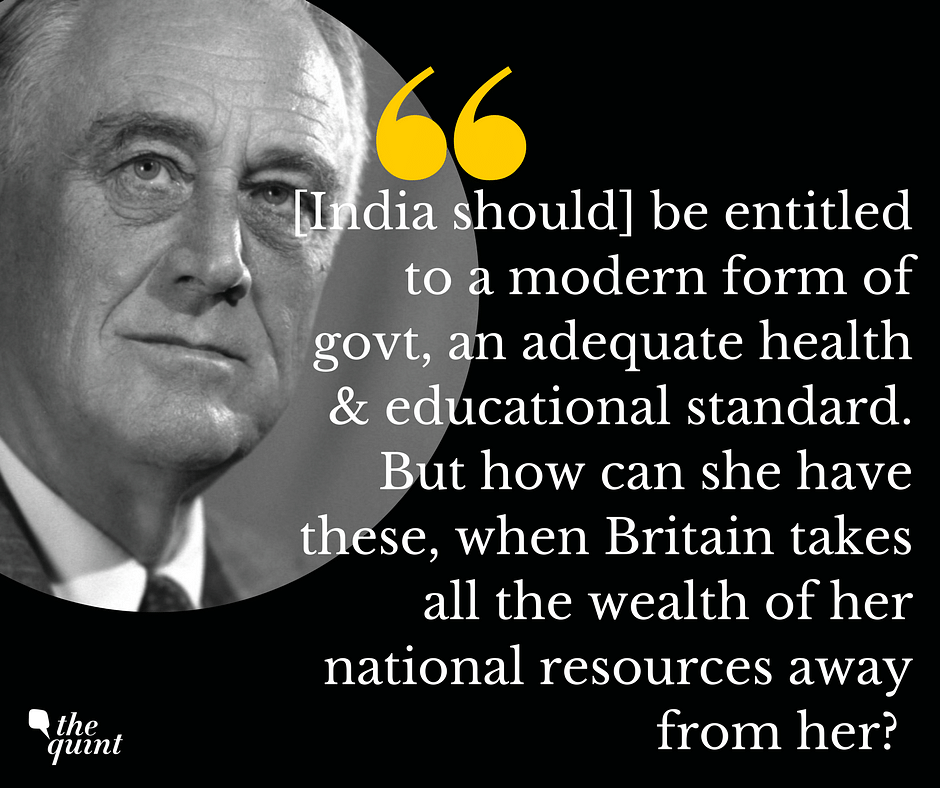 FDR on his aspirations for the Indian people.