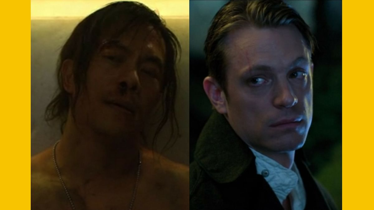 Will Yun Lee plays (past) Birth Kovacs while Joel Kinnaman plays (present) Takeshi Kovacs, in <i>Altered Carbon. </i>